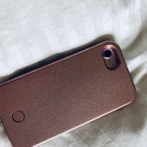 New LuMee cell phone case iphone 7 and 8 rose gold